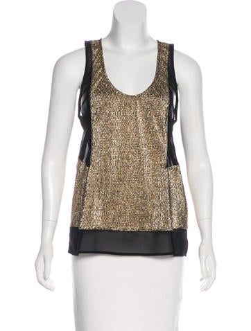 Alexis Metallic Paneled Top None