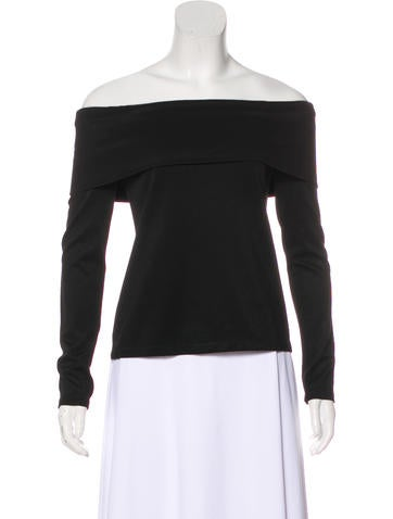 Alexis Off-The-Shoulder Long Sleeve Top None