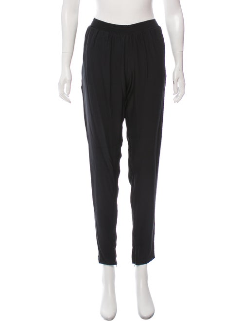 Alexis Silk Mid-Rise Pants Black