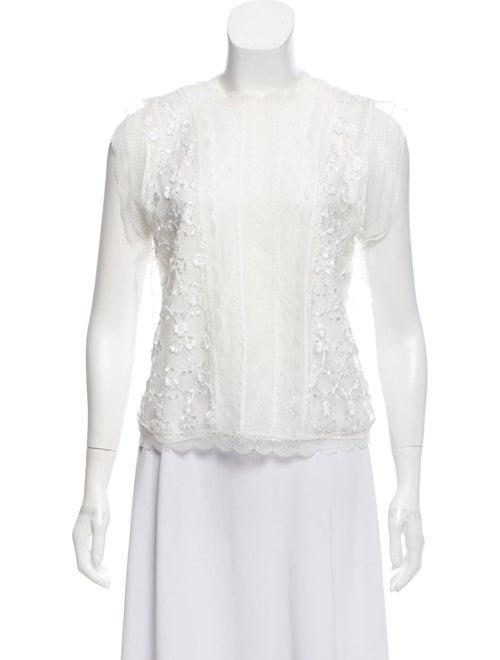 Alexis Sleeveless Lace Blouse White