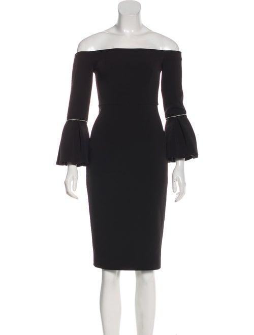 Alexis Bell Sleeve Mini Dress Black