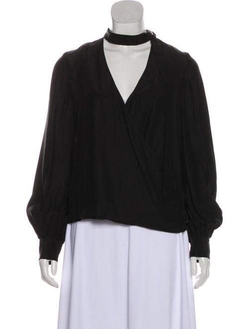 Alexis Silk Long Sleeve Blouse Black