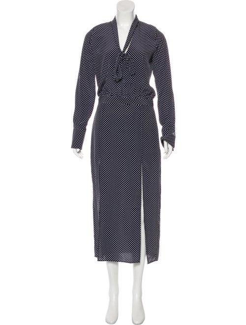 Alexis Long Sleeve Maxi Dress blue