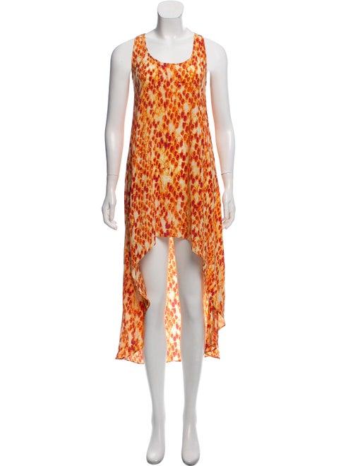 Alexis Printed Maxi Dress Orange