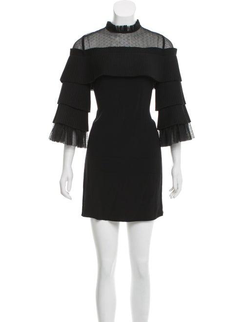 Alexis Tiered Mini Dress Black