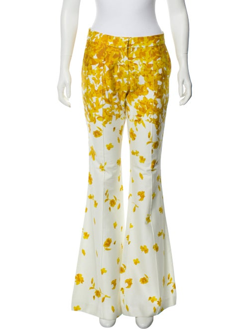 Alexis Printed Flared Pants Yellow