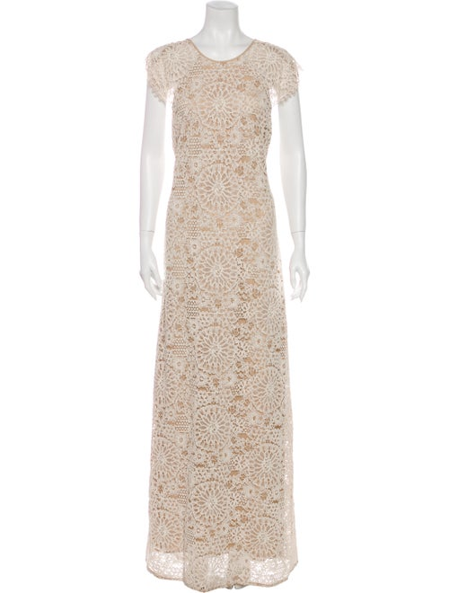 Alexis Lace Pattern Long Dress