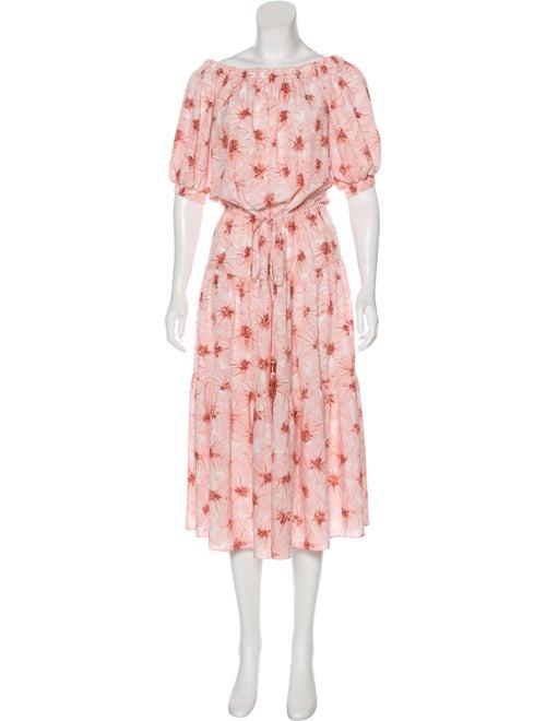 Alexis Floral Midi Dress Pink