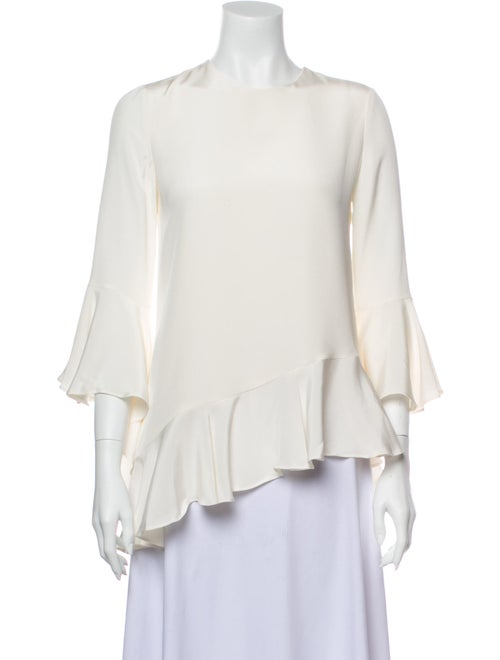 Alexis Silk Ruffle-Trimmed Top