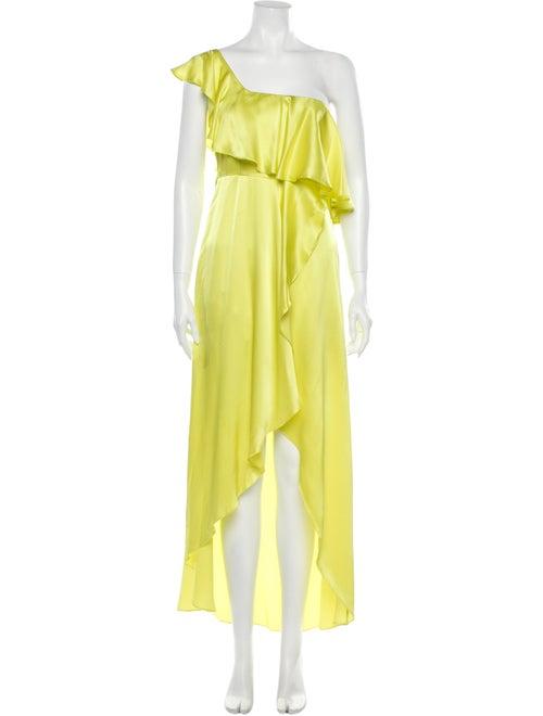 Alexis Silk Long Dress Yellow