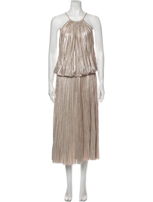Alexis Halterneck Long Dress Gold