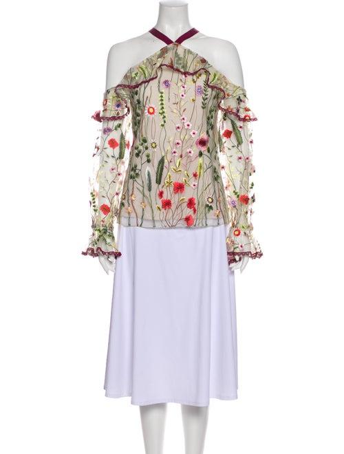 Alexis Floral Print Off-The-Shoulder Blouse