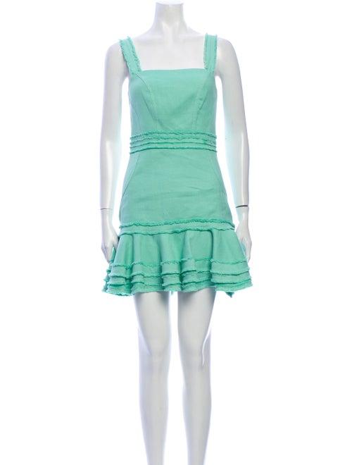Alexis Linen Mini Dress Green