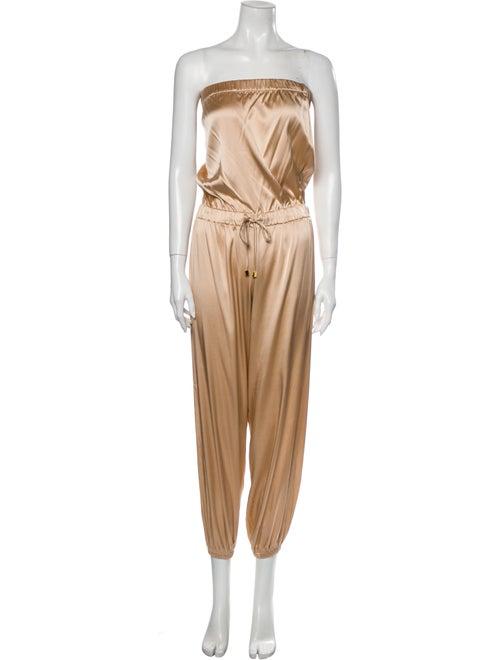 Alexis Silk Strapless Jumpsuit