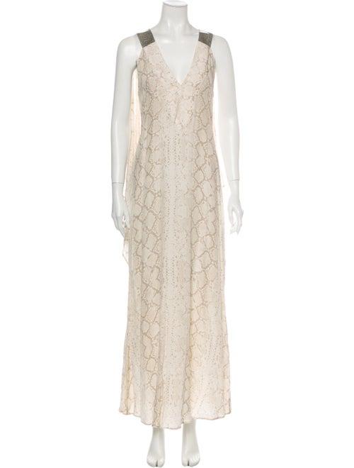 Alexis Lace Pattern Long Dress