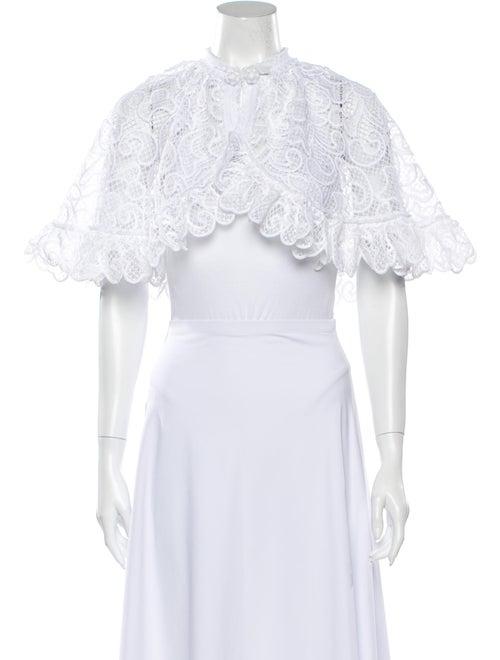 Alexis Lace Pattern Bolero White
