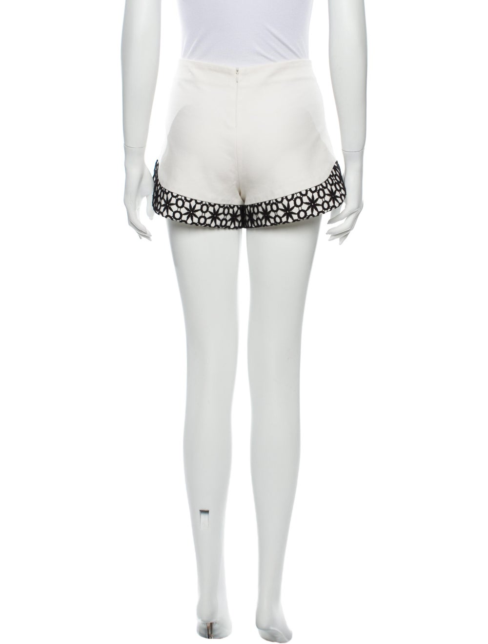 Alexis Lace Pattern Mini Shorts White - image 3
