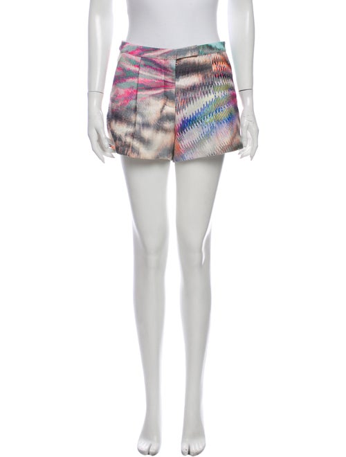 Alexis Printed Mini Shorts Pink