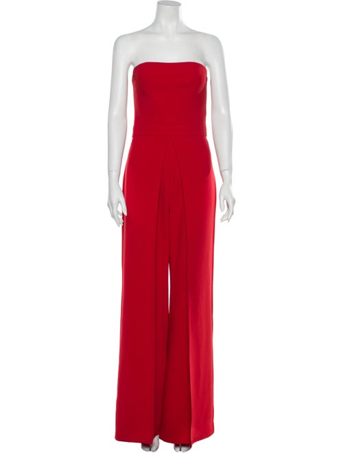 Alexis Strapless Jumpsuit Red