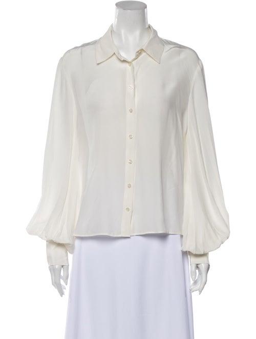 Alexis Silk Long Sleeve Button-Up Top