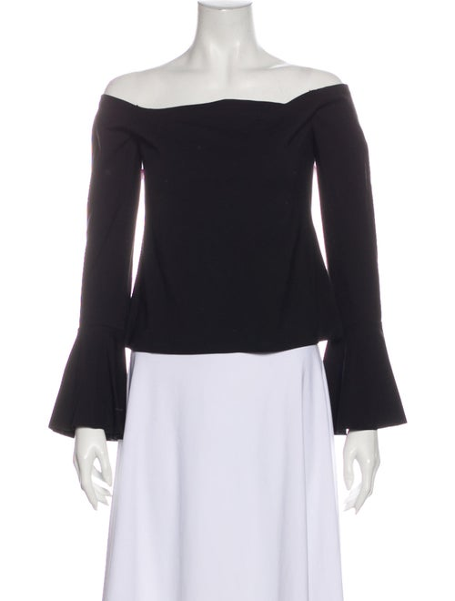 Alexis Off-The-Shoulder Long Sleeve Top Black