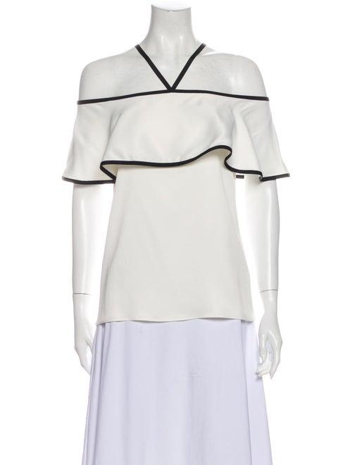 Alexis Halterneck Short Sleeve Blouse White