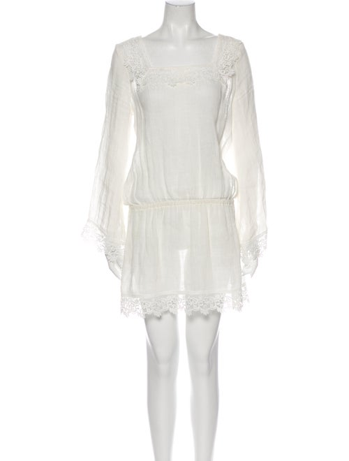 Alexis Linen Mini Dress White