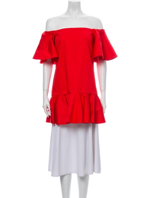 Alexis Off-The-Shoulder Short Sleeve Tunic Red