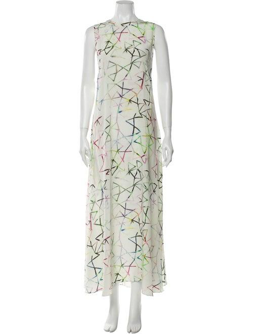 Alexis Silk Long Dress White