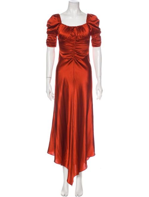 Alexis Silk Long Dress Orange