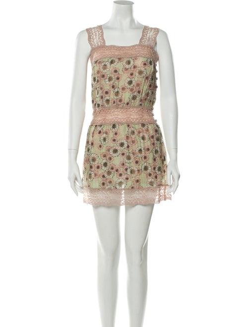 Alexis Printed Mini Dress Pink
