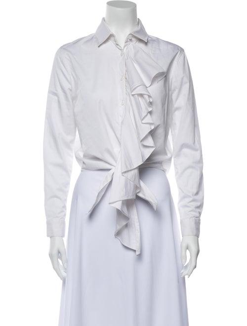 Alexis Long Sleeve Crop Top White