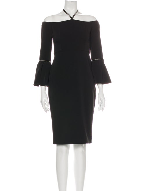 Alexis Halterneck Mini Dress Black