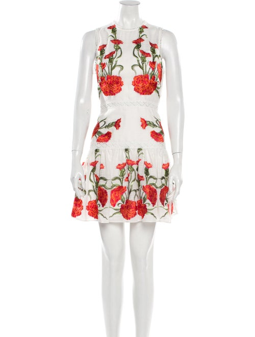 Alexis Floral Print Mini Dress White