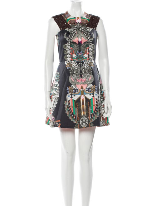 Alexis Printed Mini Dress Black