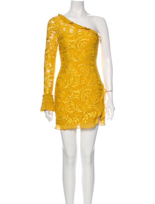 Alexis One-Shoulder Mini Dress Yellow