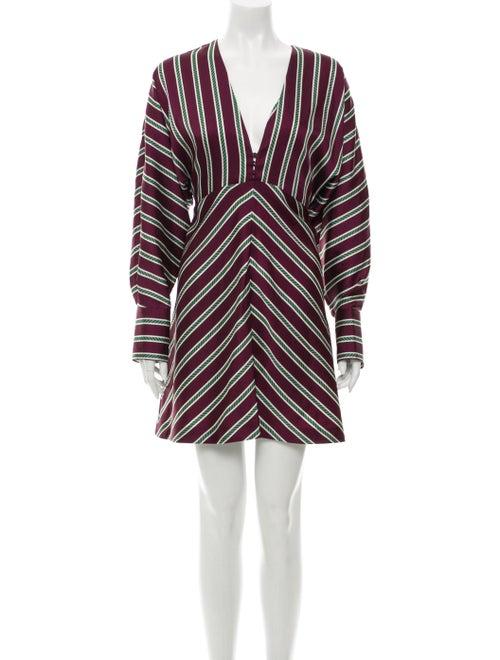 Alexis Striped Mini Dress Purple