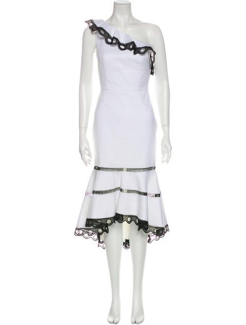 Alexis One-Shoulder Long Dress w/ Tags White