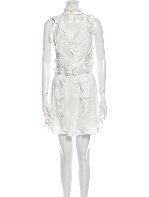 Alexis Mock Neck Mini Dress White