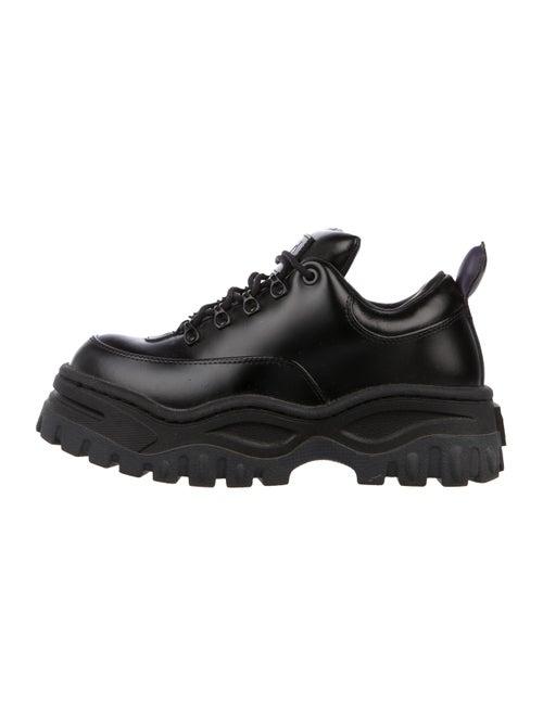 Eytys Leather Platform Sneakers Black