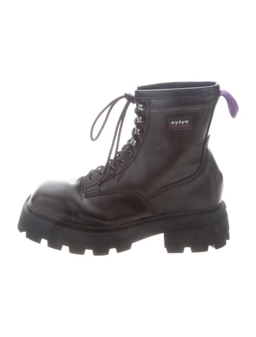 Eytys Leather Combat Boots Black