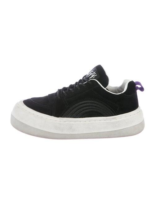Eytys Suede Chunky Sneakers Black