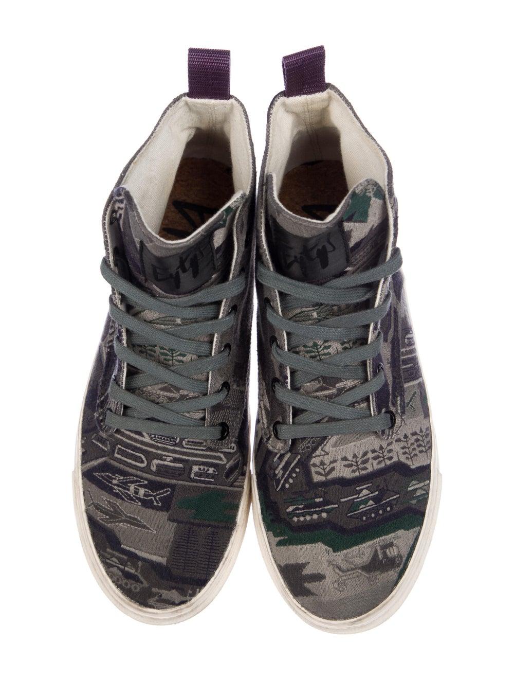 Eytys Printed Sneakers Green - image 3