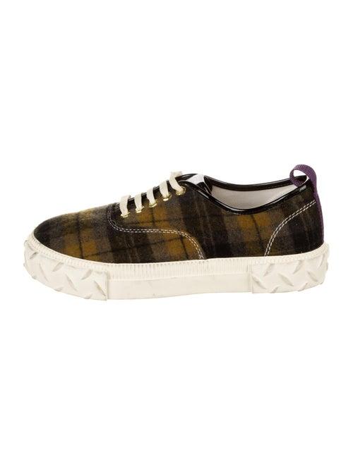 Eytys Plaid Print Sneakers Black - image 1