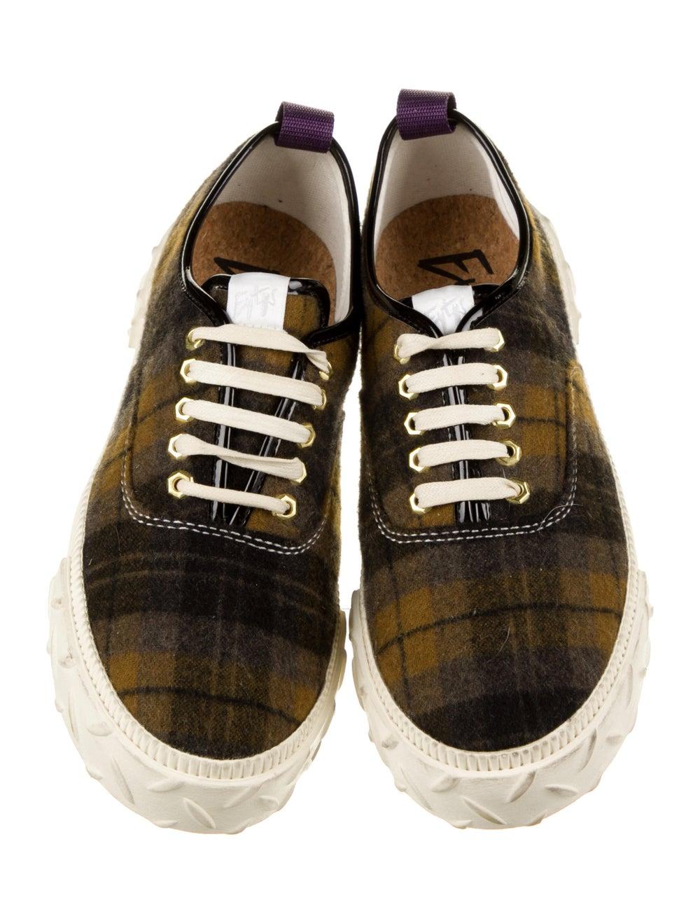 Eytys Plaid Print Sneakers Black - image 3