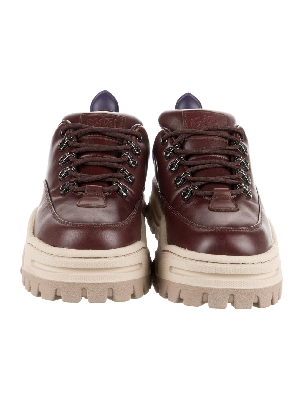Eytys Leather Chunky Sneakers Brown - image 3