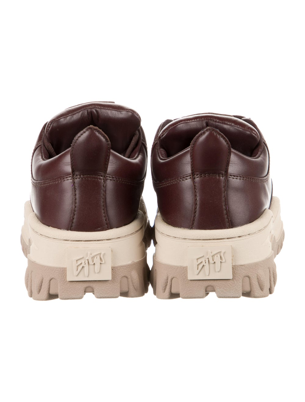 Eytys Leather Chunky Sneakers Brown - image 4