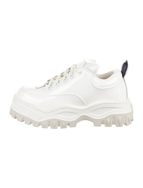 Eytys Patent Leather Mesh Accents Chunky Sneakers