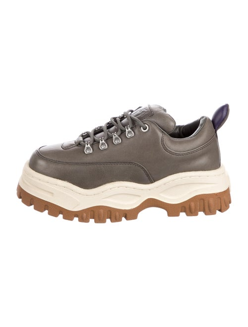 Eytys Leather Chunky Sneakers Grey - image 1
