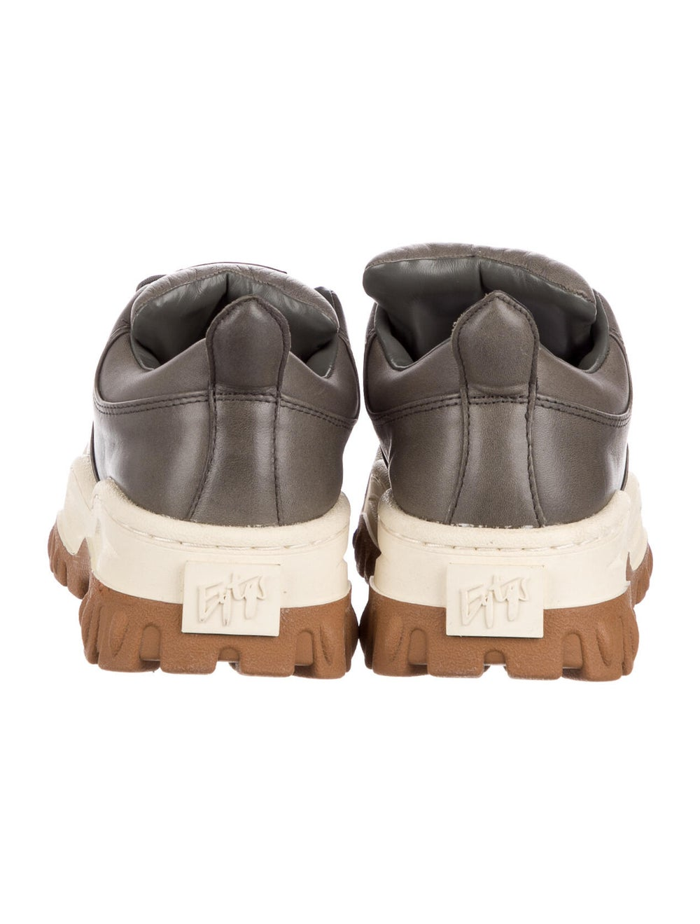 Eytys Leather Chunky Sneakers Grey - image 4